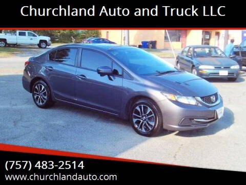 2014 Honda Civic for sale at Churchland Auto and Truck LLC in Portsmouth VA