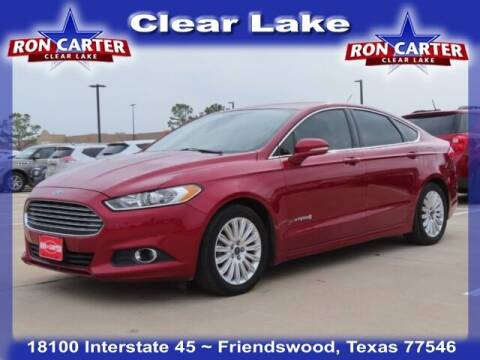 2015 Ford Fusion Hybrid for sale at Ron Carter  Clear Lake Used Cars in Houston TX