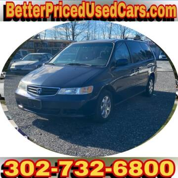 2003 Honda Odyssey for sale at Better Priced Used Cars in Frankford DE