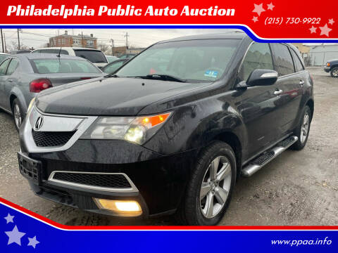 2010 Acura MDX for sale at Philadelphia Public Auto Auction in Philadelphia PA