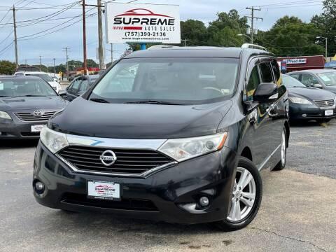 2011 Nissan Quest for sale at Supreme Auto Sales in Chesapeake VA