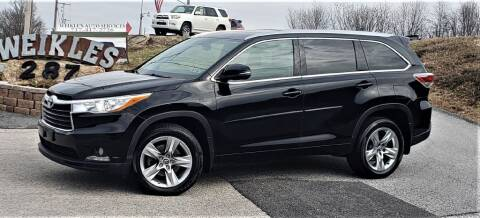 2016 Toyota Highlander for sale at WEIKLES SPECIALTY in Felton PA