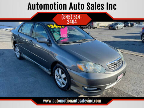 2007 Toyota Corolla for sale at Automotion Auto Sales Inc in Kingston NY