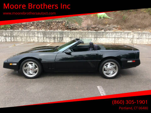 1989 Chevrolet Corvette for sale at Moore Brothers Inc in Portland CT