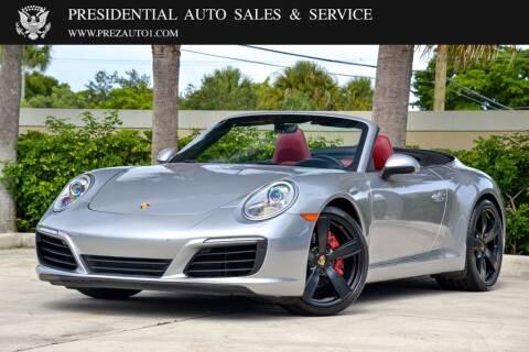 2017 Porsche 911 for sale at Presidential Auto  Sales & Service in Delray Beach FL