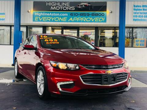 2016 Chevrolet Malibu for sale at Highline Motors in Aston PA