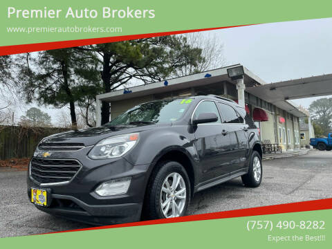 2016 Chevrolet Equinox for sale at Premier Auto Brokers in Virginia Beach VA