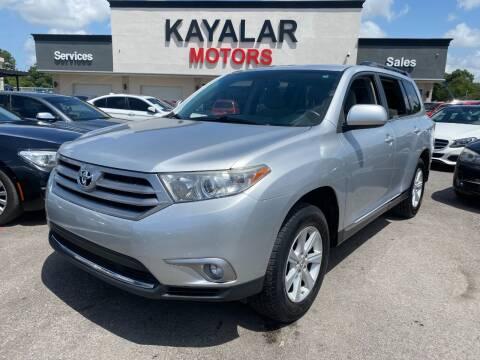 2013 Toyota Highlander for sale at KAYALAR MOTORS in Houston TX