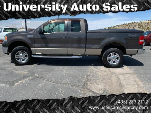 2006 Ford F-150 for sale at University Auto Sales in Cedar City UT