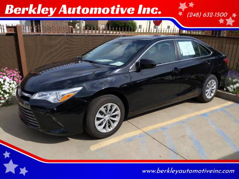 2017 Toyota Camry for sale at Berkley Automotive Inc. in Berkley MI