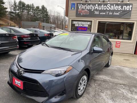 2018 Toyota Corolla for sale at Variety Auto Sales in Worcester MA