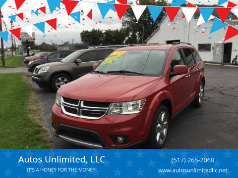 2013 Dodge Journey for sale at Autos Unlimited, LLC in Adrian MI