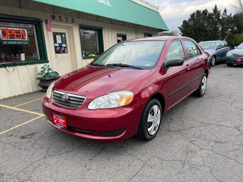 2008 Toyota Corolla for sale at 1st Choice Auto Sales in Fairfax VA