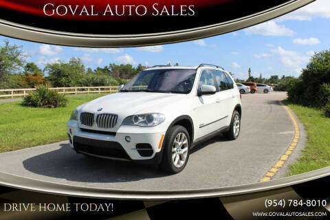 2013 BMW X5 for sale at Goval Auto Sales in Pompano Beach FL