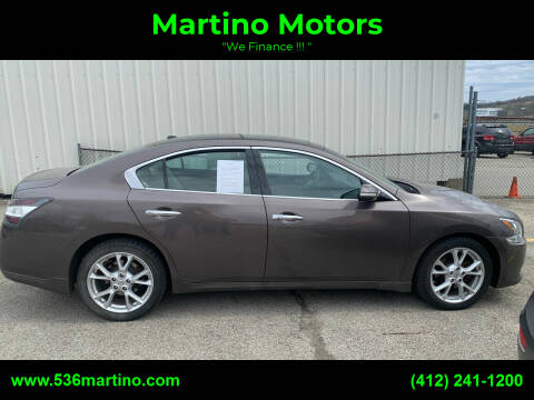 2012 Nissan Maxima for sale at Martino Motors in Pittsburgh PA