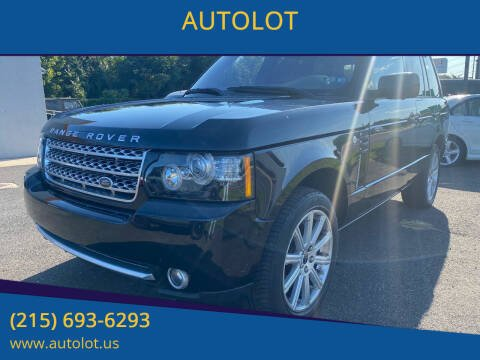 2012 Land Rover Range Rover for sale at AUTOLOT in Bristol PA