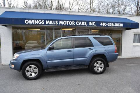 2003 Toyota 4Runner for sale at Owings Mills Motor Cars in Owings Mills MD
