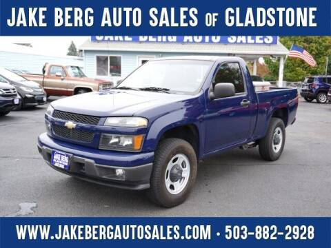 2012 Chevrolet Colorado for sale at Jake Berg Auto Sales in Gladstone OR