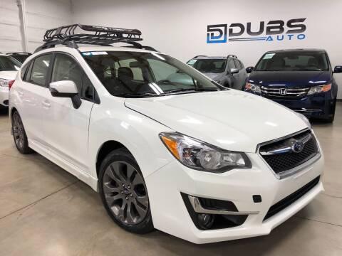 2016 Subaru Impreza for sale at DUBS AUTO LLC in Clearfield UT