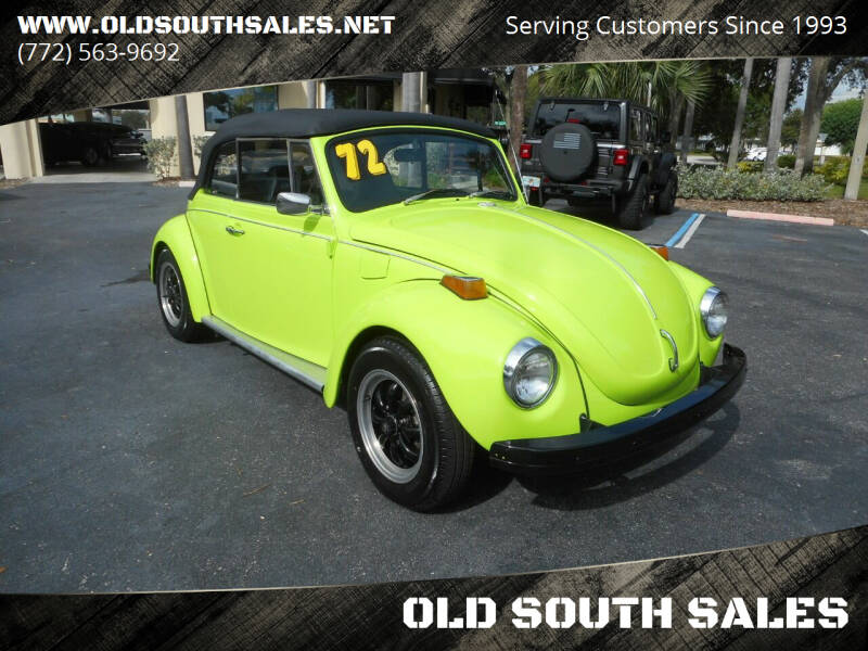 1972 Volkswagen Beetle Convertible for sale at OLD SOUTH SALES in Vero Beach FL
