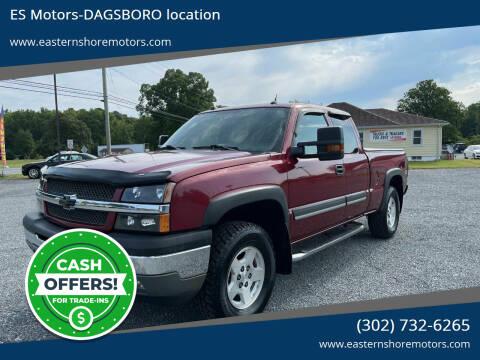 2004 Chevrolet Silverado 1500 for sale at ES Motors-DAGSBORO location in Dagsboro DE