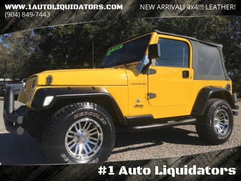 2000 Jeep Wrangler for sale at #1 Auto Liquidators in Yulee FL