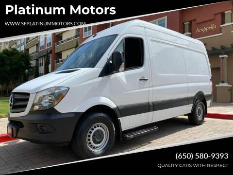 2017 Mercedes-Benz Sprinter Cargo for sale at Platinum Motors in San Bruno CA