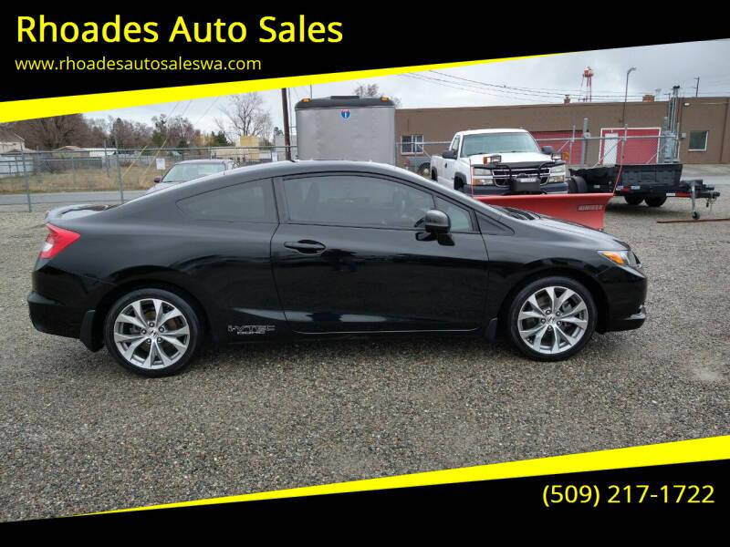 2012 Honda Civic for sale at Rhoades Auto Sales in Spokane Valley WA
