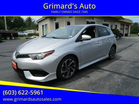 2016 Scion iM for sale at Grimard's Auto in Hooksett NH
