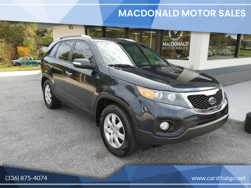 2012 Kia Sorento for sale at MacDonald Motor Sales in High Point NC