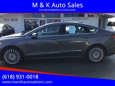 2016 Ford Fusion for sale at M & K Auto Sales in Granite City IL