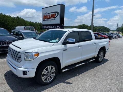 2015 Toyota Tundra for sale at Billy Ballew Motorsports in Dawsonville GA