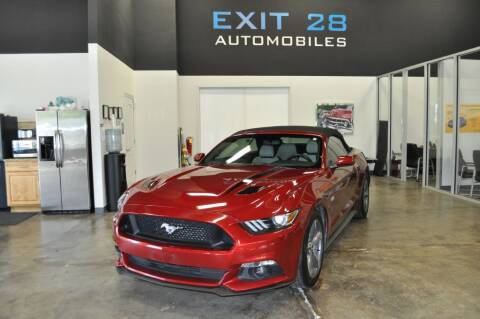 2015 Ford Mustang for sale at Exit 28 Auto Center LLC in Cornelius NC