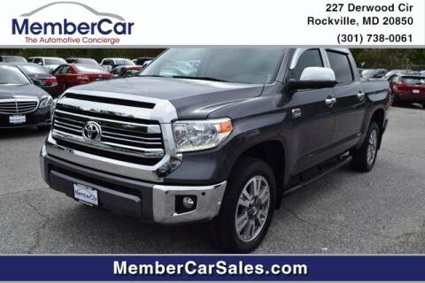 2017 Toyota Tundra for sale at MemberCar in Rockville MD