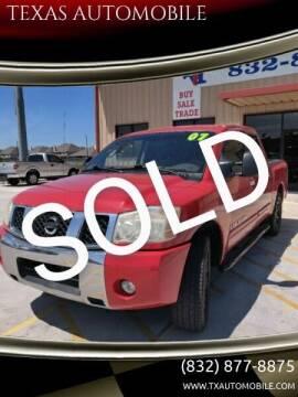 2007 Nissan Titan for sale at TEXAS AUTOMOBILE in Houston TX