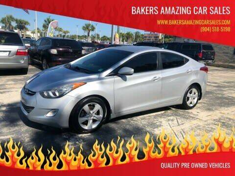 2013 Hyundai Elantra for sale at Bakers Amazing Car Sales in Jacksonville FL