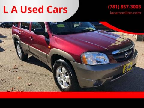2004 Mazda Tribute for sale at L A Used Cars in Abington MA
