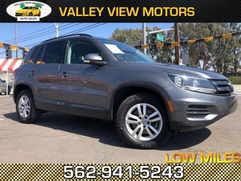2015 Volkswagen Tiguan for sale at Valley View Motors in Whittier CA