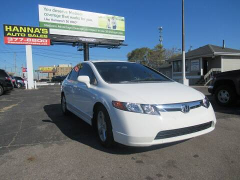 2008 Honda Civic for sale at Hanna's Auto Sales in Indianapolis IN
