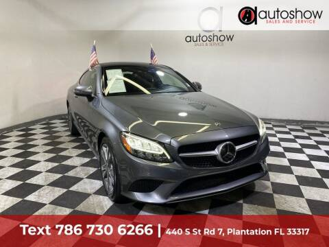2019 Mercedes-Benz C-Class for sale at AUTOSHOW SALES & SERVICE in Plantation FL