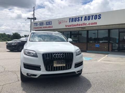 2015 Audi Q7 for sale at Trust Autos, LLC in Decatur GA