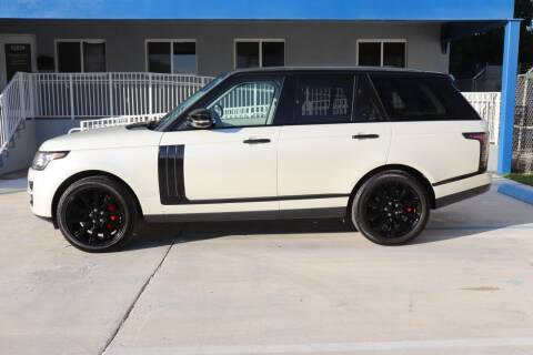 2014 Land Rover Range Rover for sale at PERFORMANCE AUTO WHOLESALERS in Miami FL