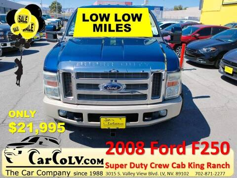 2008 Ford F-250 Super Duty for sale at The Car Company in Las Vegas NV