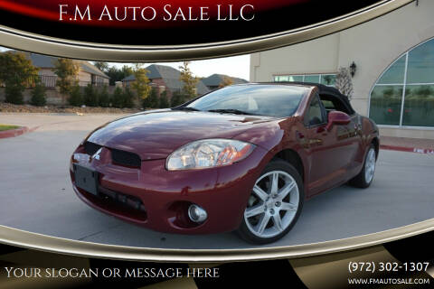 2007 Mitsubishi Eclipse Spyder for sale at F.M Auto Sale LLC in Dallas TX