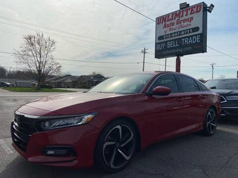 2018 Honda Accord for sale at Unlimited Auto Group in West Chester OH