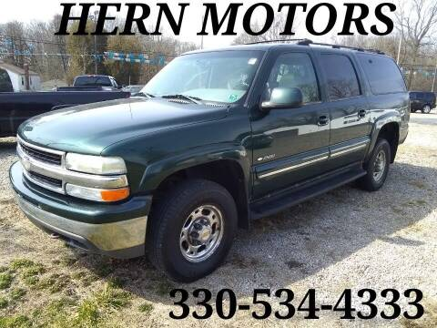 2001 Chevrolet Suburban for sale at Hern Motors - 2021 BROOKFIELD RD Lot in Hubbard OH