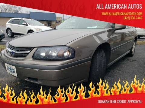 2002 Chevrolet Impala for sale at All American Autos in Kingsport TN