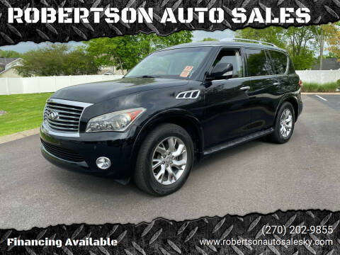 2011 Infiniti QX56 for sale at ROBERTSON AUTO SALES in Bowling Green KY