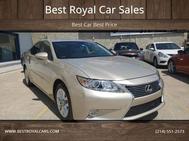 2013 Lexus ES 300h for sale at Best Royal Car Sales in Dallas TX