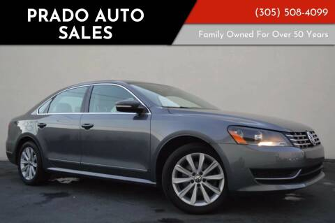 2013 Volkswagen Passat for sale at Prado Auto Sales in Miami FL